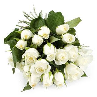 Kytice Bílé růže kvetiny