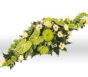 Kytice Smuteční aranžmá zelené  kvetiny