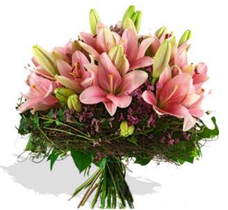 Kytice květina liliová kvetiny
