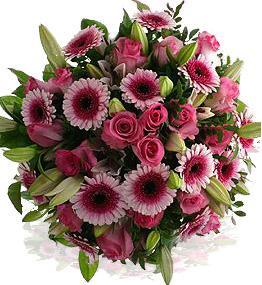 Kytice Růžový obr kvetiny
