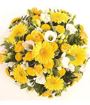 Kytice Smuteční věnec žlutý smutecni-kytice