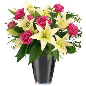 Kytice Růžovo-bílá kytice kvetiny